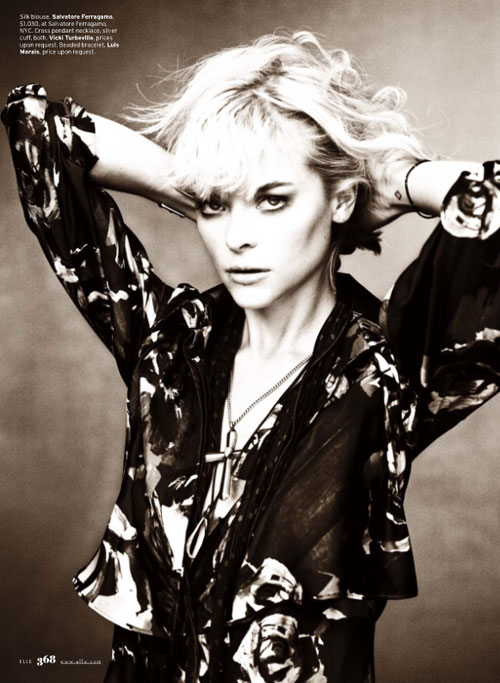 Jaime King by Alexei Hay for Elle US October