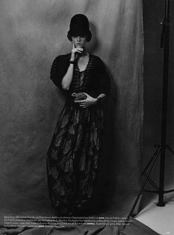 Freja Beha Erichsen by Karl Lagerfeld for Vogue Germany