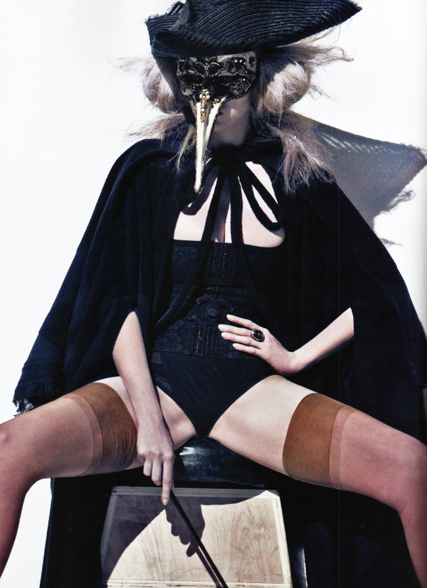Steven Klein Shoots Lara Stone for Vogue Paris October