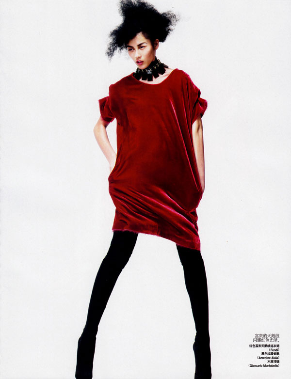 Kai Z. Feng Shoots Liu Wen for Vogue China October