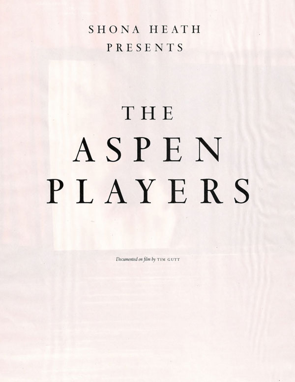 The Aspen Players | Hannelore Knuts & Iekeliene Stange by Tim Gutt