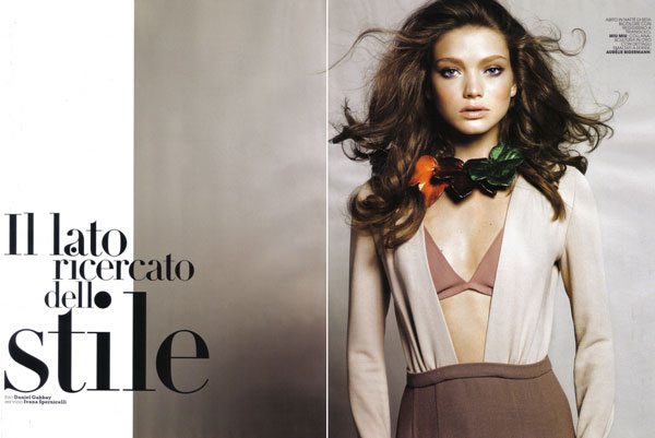 Margaryta Senchylo by Daniel Gabbay for Marie Claire Italy