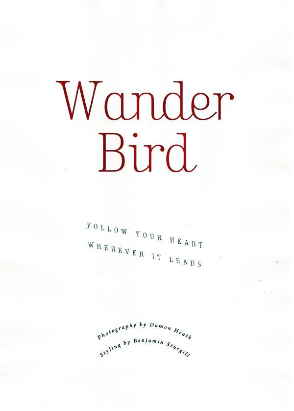 Wander Bird   Lindsey Wixson by Damon Heath for Lula