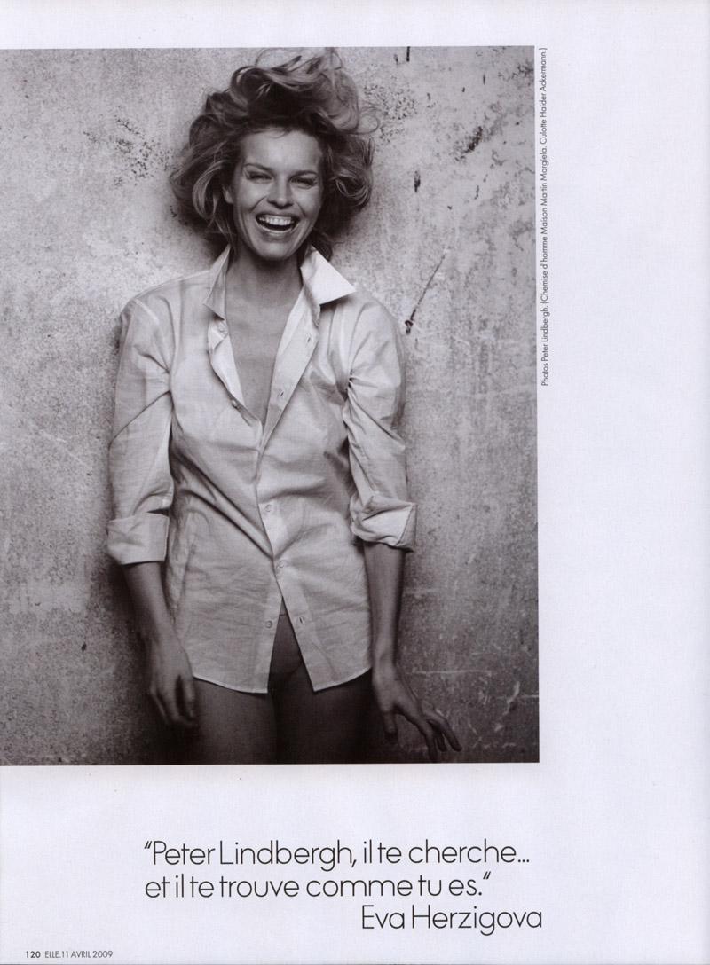Eva Herzigova in Elle France