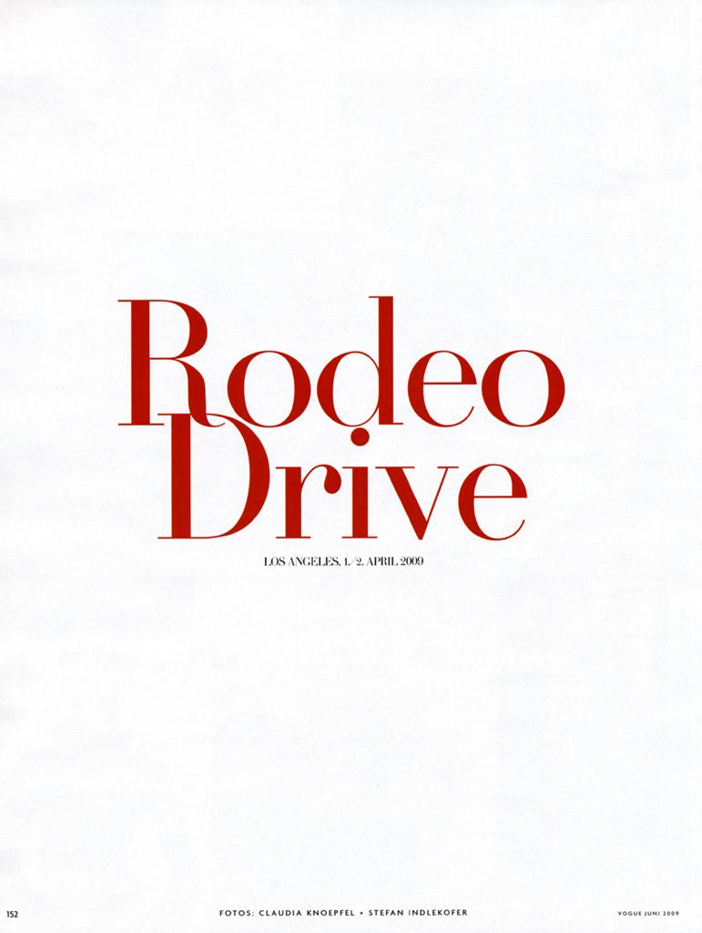 Heidi Klum on Rodeo Drive