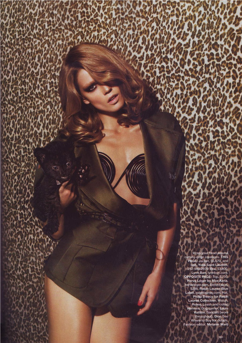 Masha Novoselova in Harper's Bazaar