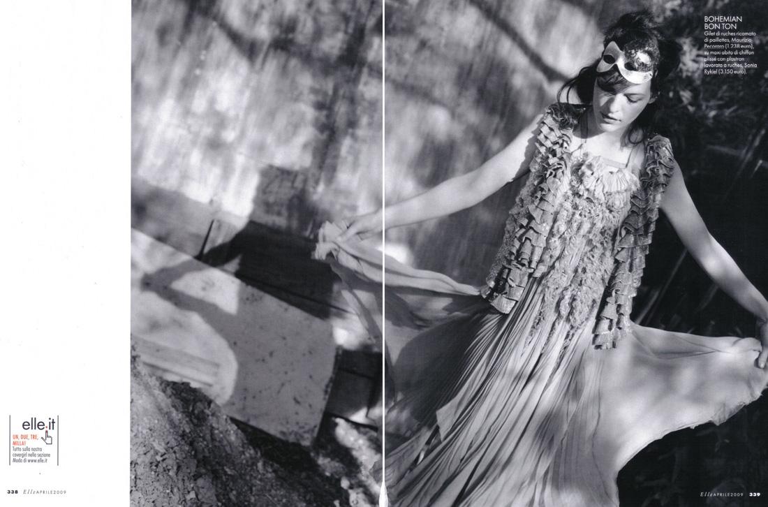 Milla Jovovich in Elle Italy