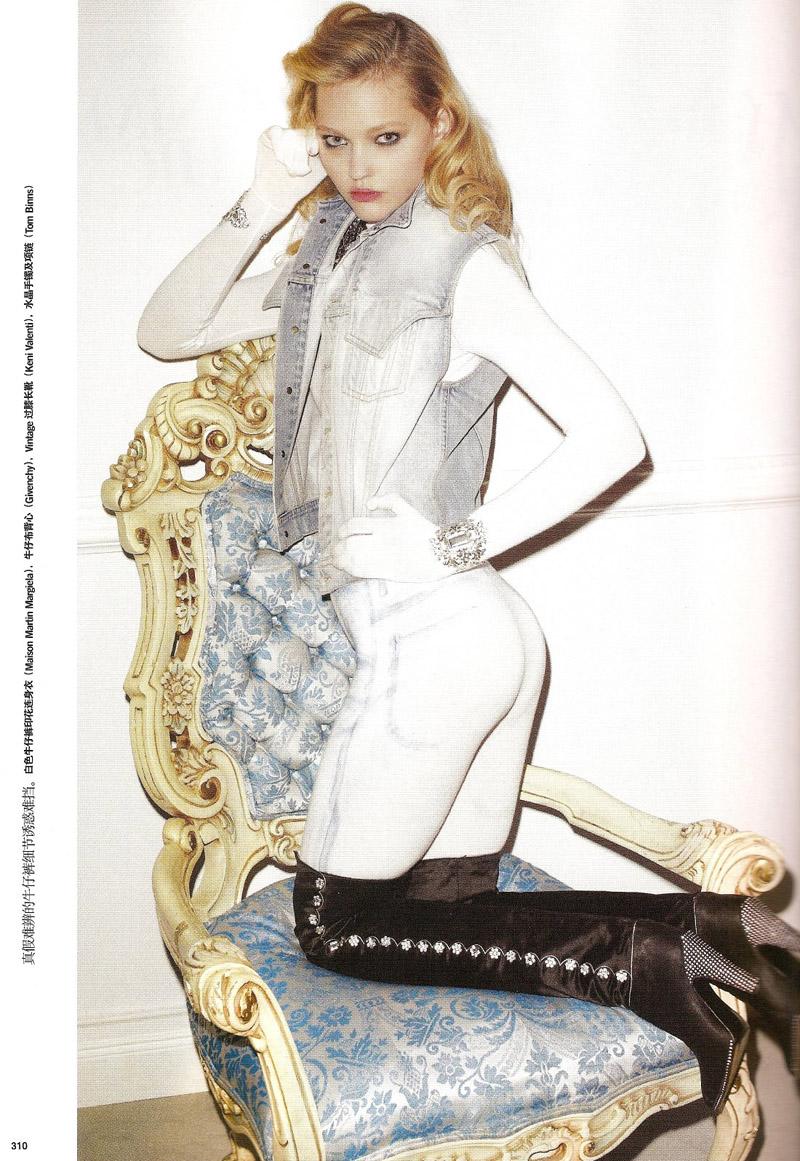Sasha Pivovarova in 'Denim Chic'