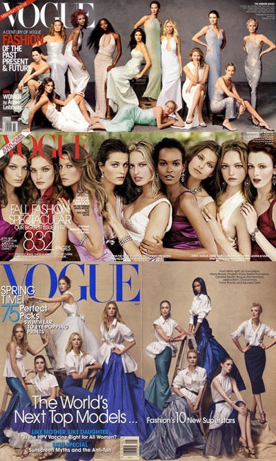 """American Vogue's """"Top Models"""" Issue"""