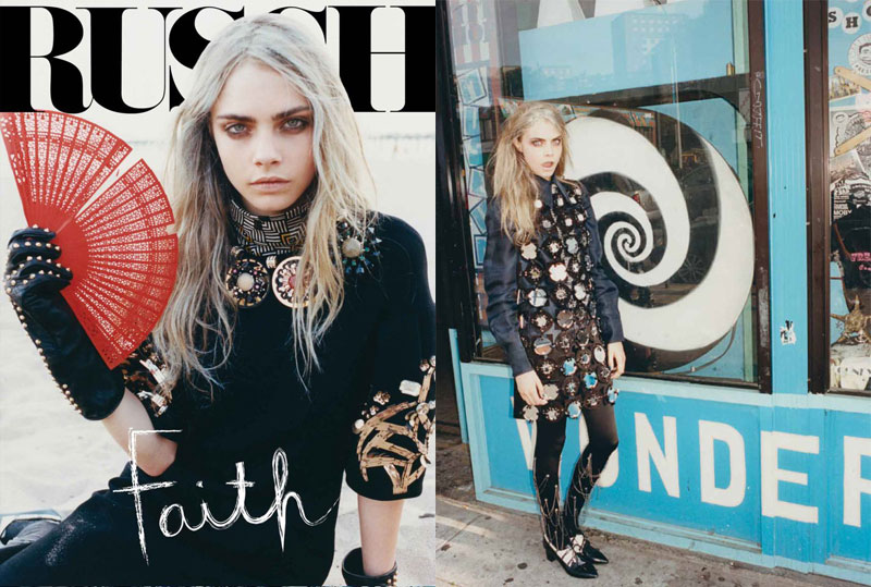 Cara Delevingne Explores Coney Island for Russh #47 by Tung Walsh