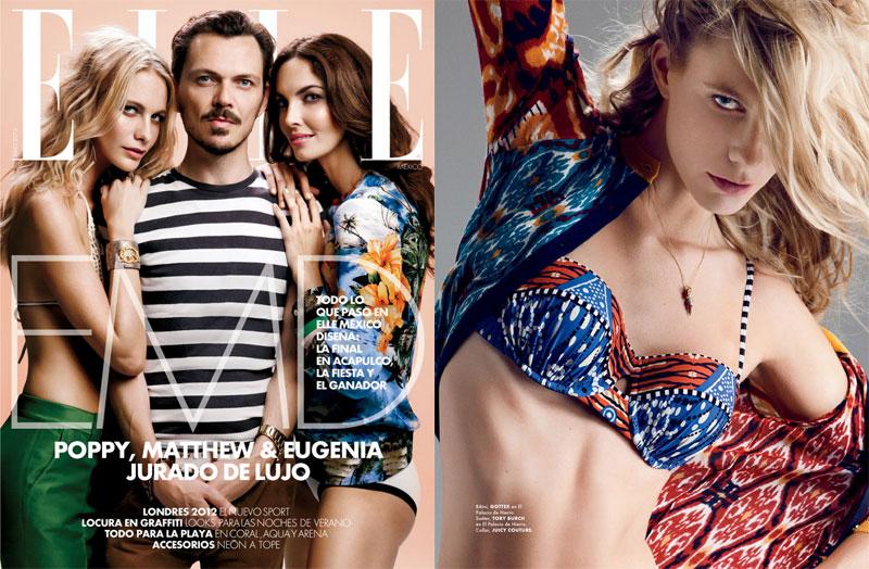 Designer Matthew Williamson, Poppy Delevingne & Eugenia Silva Cover Elle Mexico's July Issue by Santiago Ruiseñor