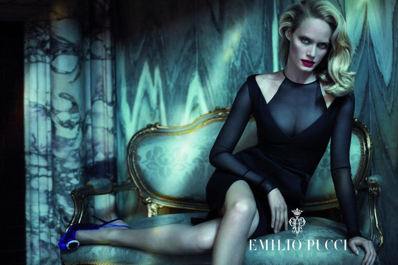 Amber Valletta Seduces in Emilio Pucci's Fall 2012 Campaign by Mert & Marcus
