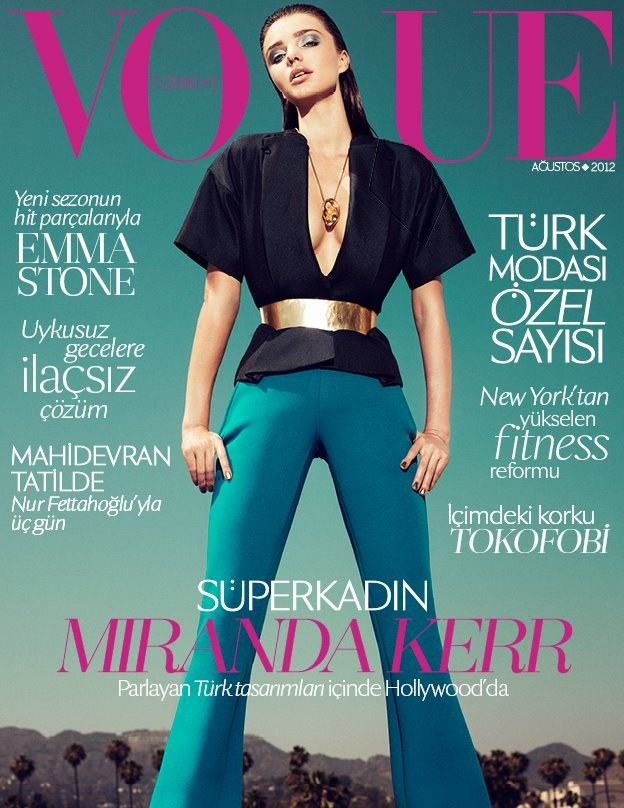 Miranda Kerr Graces the August 2012 Cover of Vogue Turkey