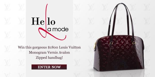 Enter to Win a Louis Vuitton Handbag with Hello La Mode's Facebook Contest