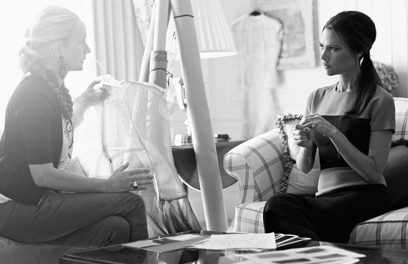Victoria Beckham, Christopher Bailey & Other British Designers Prep for the London Olympics in Vogue UK by Toby Knott