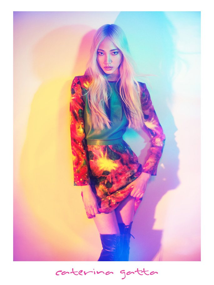 Soo Joo Embraces Kaleidoscopic Color for Caterina Gatta's Fall 2012 Campaign by Paolo Santambrogio