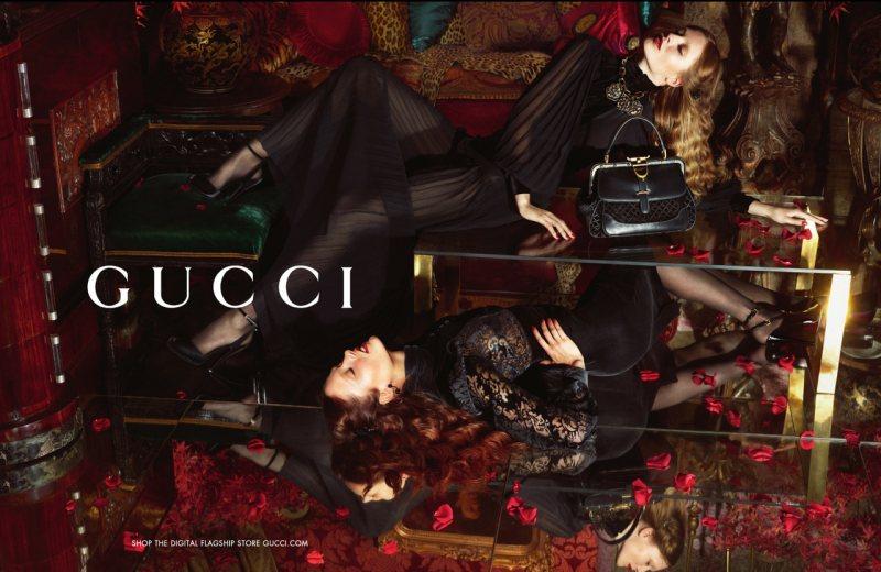Karmen Pedaru & Nadja Bender Luxuriate in Gucci's Fall 2012 Campaign by Mert & Marcus