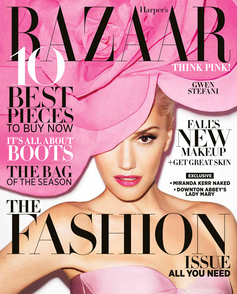 Gwen Stefani Fronts the September Cover of Harper's Bazaar US by Terry Richardson