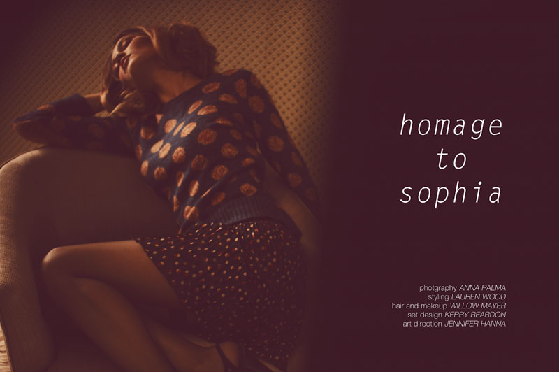 """Lena by Anna Palma in """"Homage to Sophia"""" for Fashion Gone Rogue"""