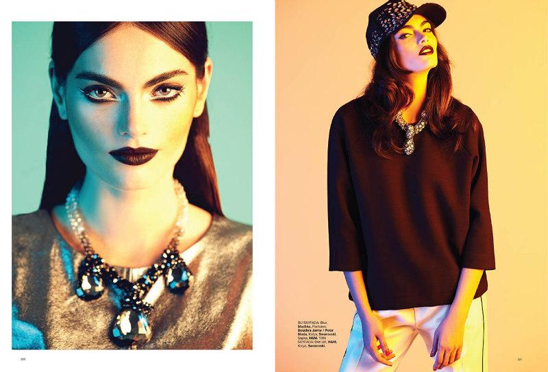 Djamila Del Pino Dons Modern Silhouettes in Harper's Bazaar Turkey by Ahmet Unver