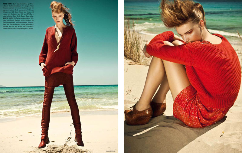 Thanassis Krikis Lenses Autumn's Red Hues for Madame Germany