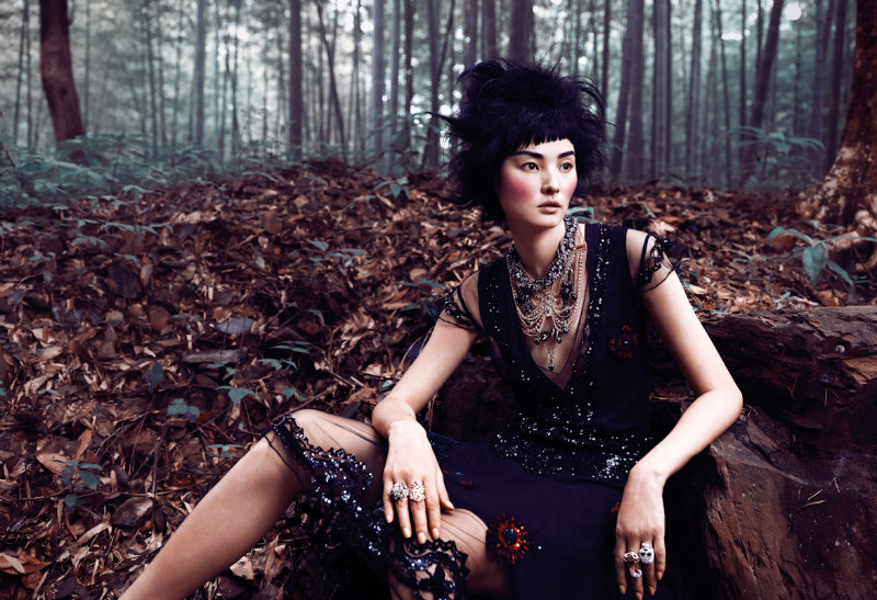 Miao Bin Si Models Ethereal Beauty for Elle Vietnam October 2012 by Stockton Johnson