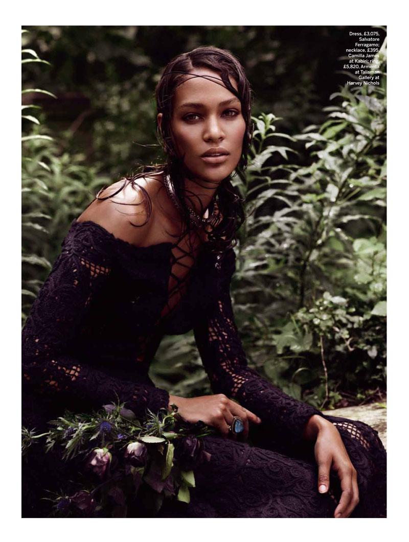 Joan Smalls is Divine in Black for Stylist Magazine