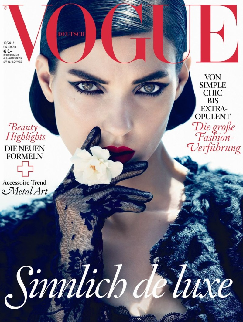 Kati Nescher is Lovely in Lace for Vogue Germany's October 2012 Cover