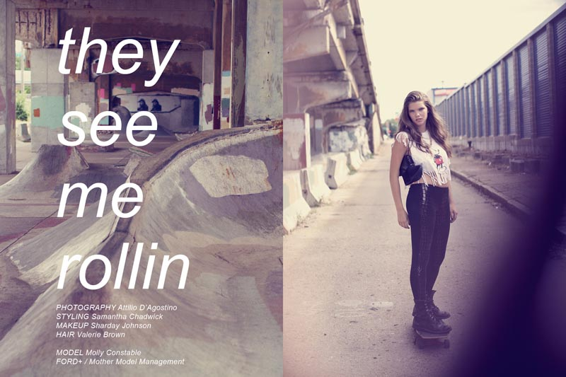 """Molly Constable by Attilio D'Agostino in """"They See Me Rollin"""" for Fashion Gone Rogue"""