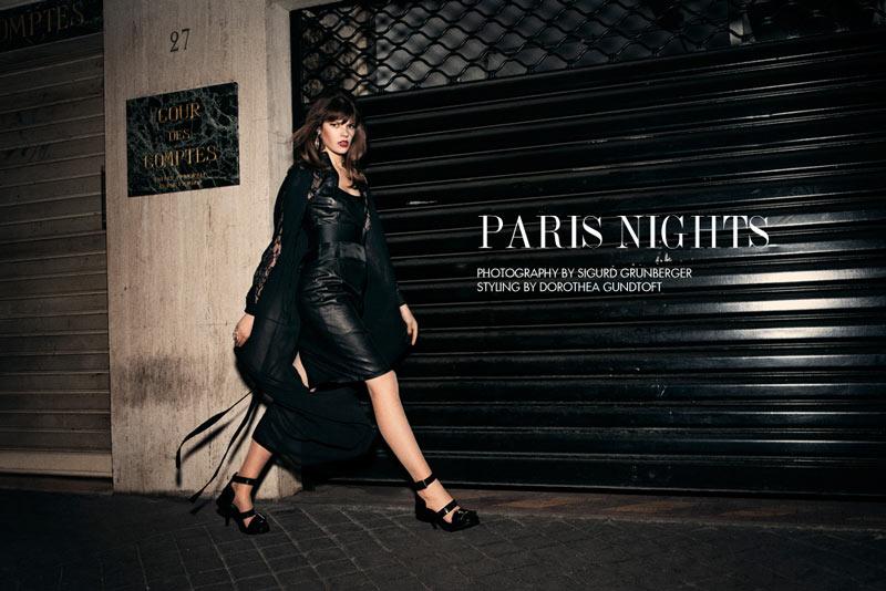 "Zuzanna Stankiewicz by Sigurd Grunberger in ""Paris Nights"" for Fashion Gone Rogue"