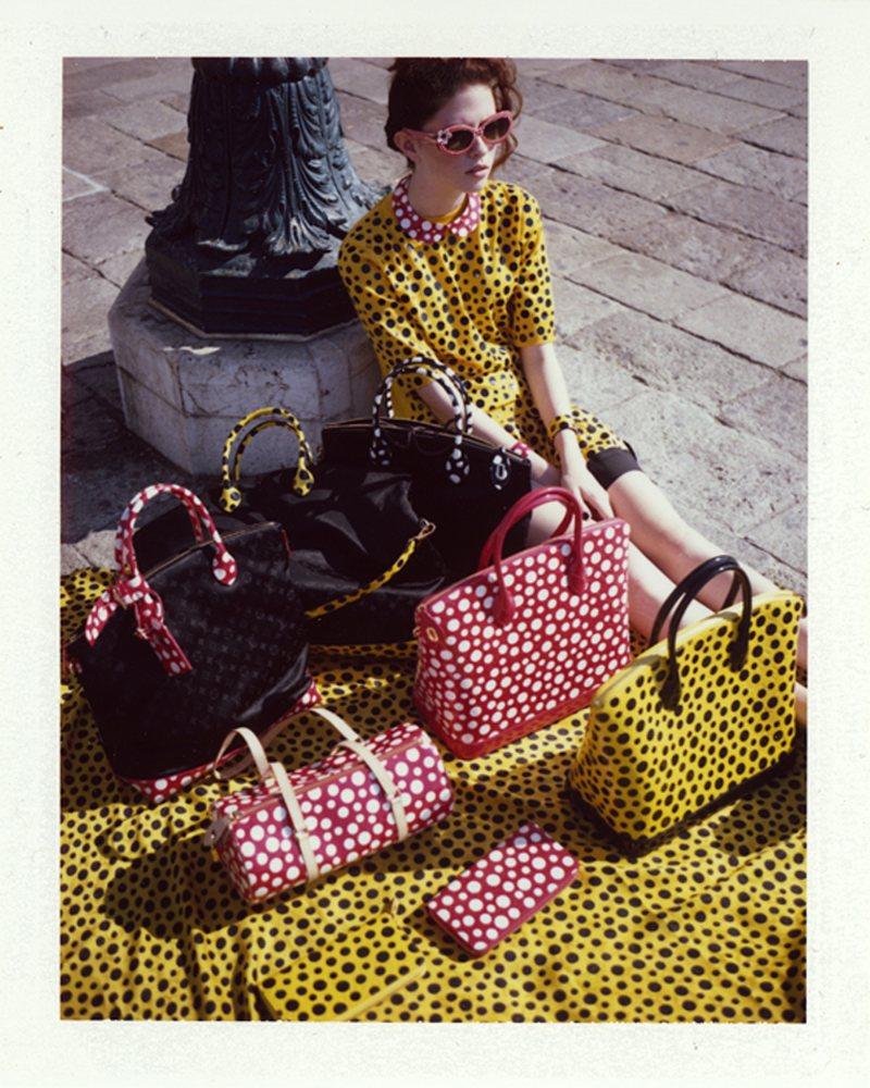 Dennison Bertram Lenses the Louis Vuitton x Yayoi Kusama Collection for Marie Claire Czech