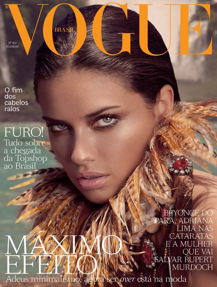 Vogue Brazil February 2012 Cover | Adriana Lima by André Passos