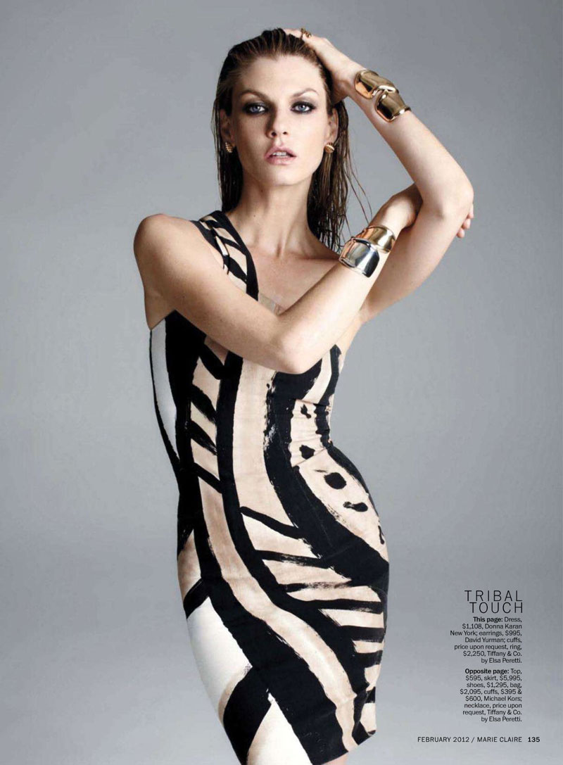 Angela Lindvall by David Roemer for Marie Claire US February 2012