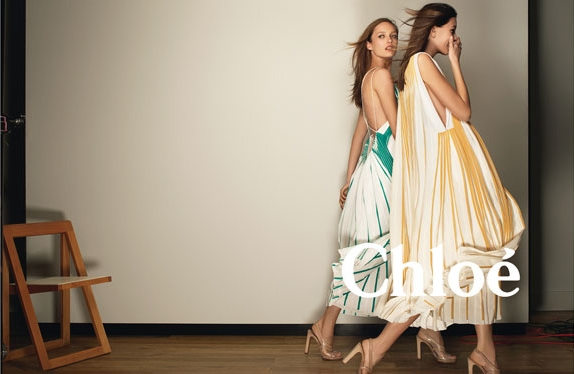 Karmen Pedaru & Kate King for Chloe Spring 2012 Campaign by Glen Luchford