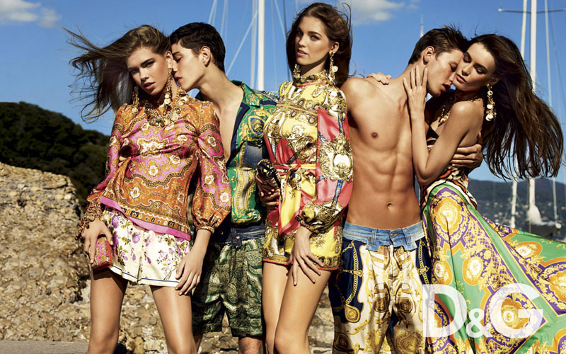 Samantha Gradoville, Patrycja Gardygajlo & Valerija Sestic for D&G Spring 2012 Campaign by Giampaolo Sgura
