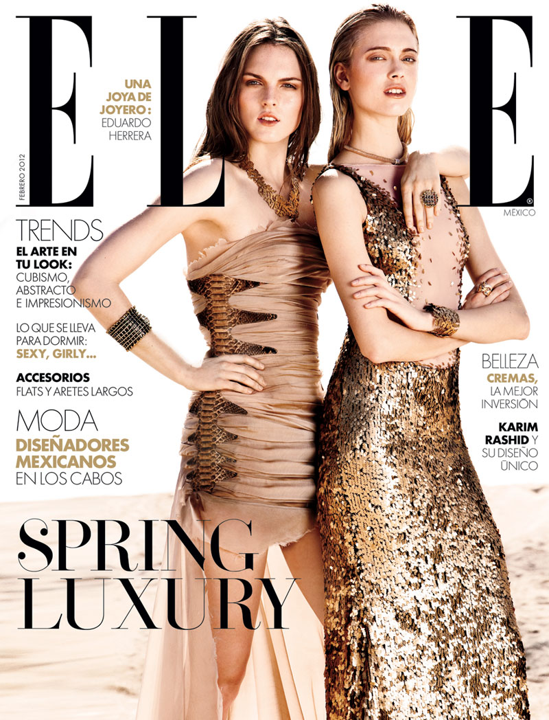 Elle Mexico February 2012 Cover | Anna & Polina by Santiago Ruisenor