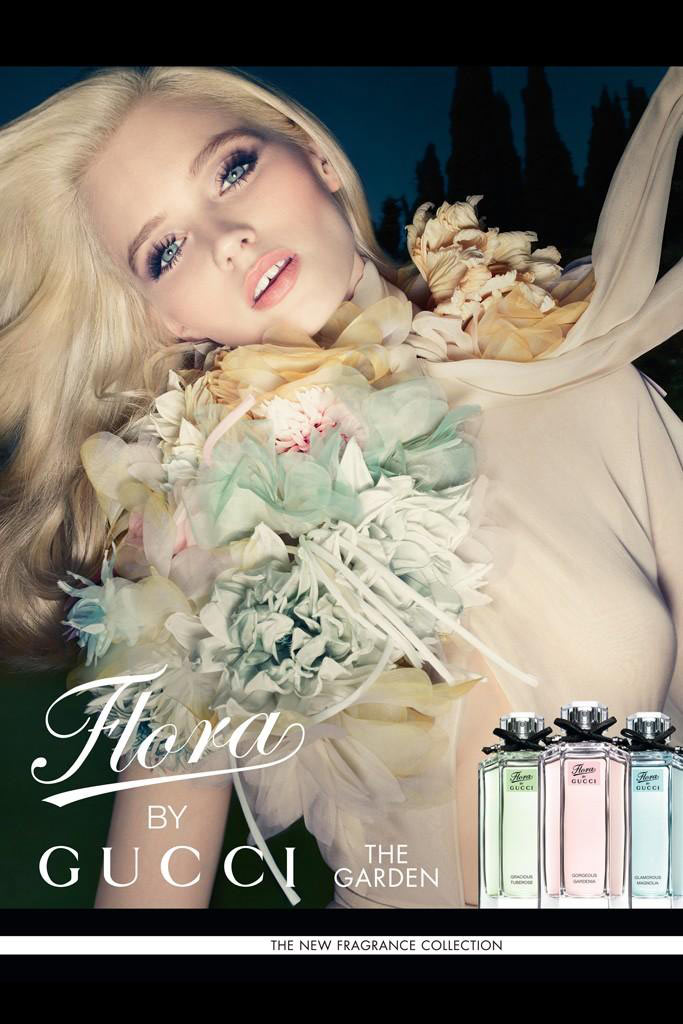 "Abbey Lee Kershaw for Gucci ""Flora"" Fragrance Campaign by Sølve Sundsbø"