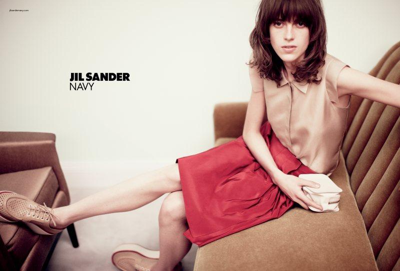 Sojourner Morrell for Jil Sander Navy Spring 2012 Campaign by Daniel Jackson