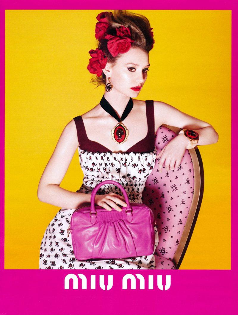 Mia Wasikowska for Miu Miu Spring 2012 Campaign