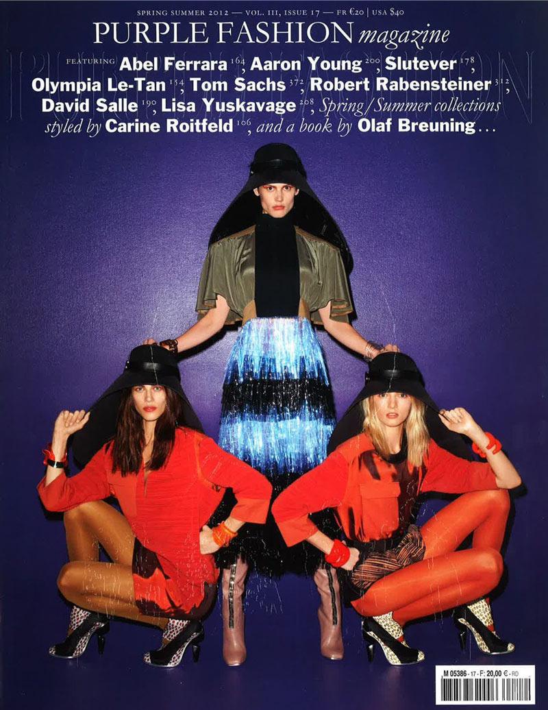 Purple Fashion S/S 2012 Cover | Saskia de Brauw, Daria Strokous & Aymeline Valade by Terry Richardson
