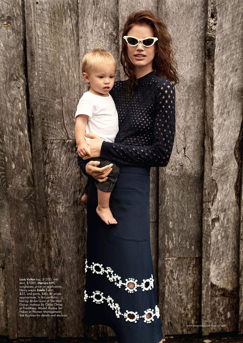 Rianne ten Haken by John Balsom for Harper's Bazaar Australia