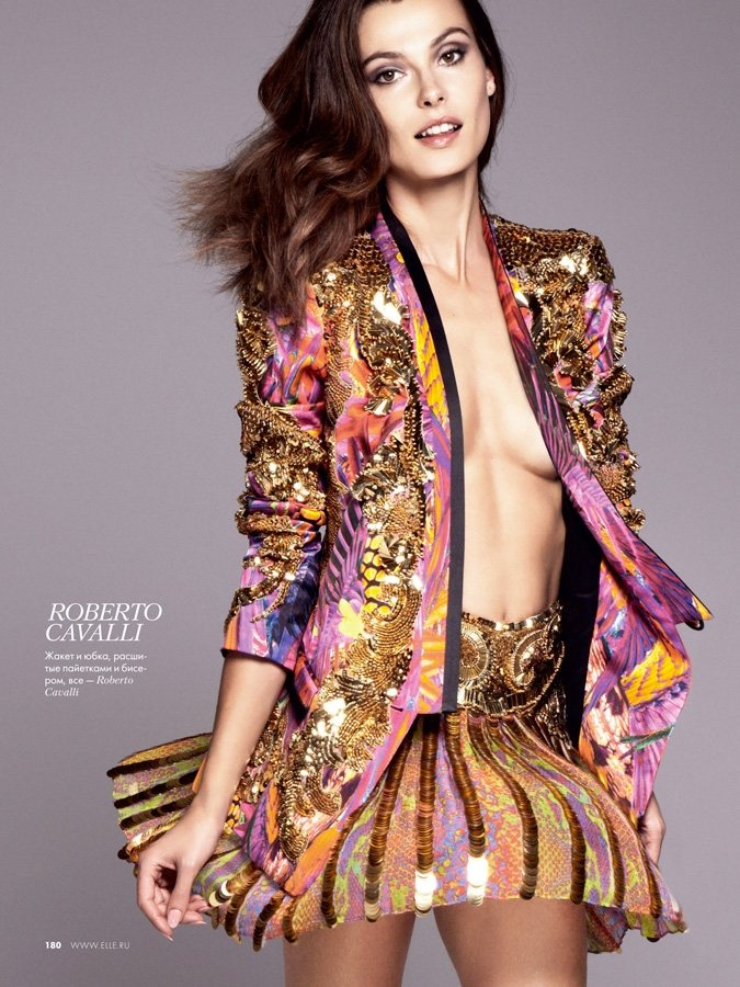 Aurelie Claudel by Asa Tallgard for Elle Russia February 2012