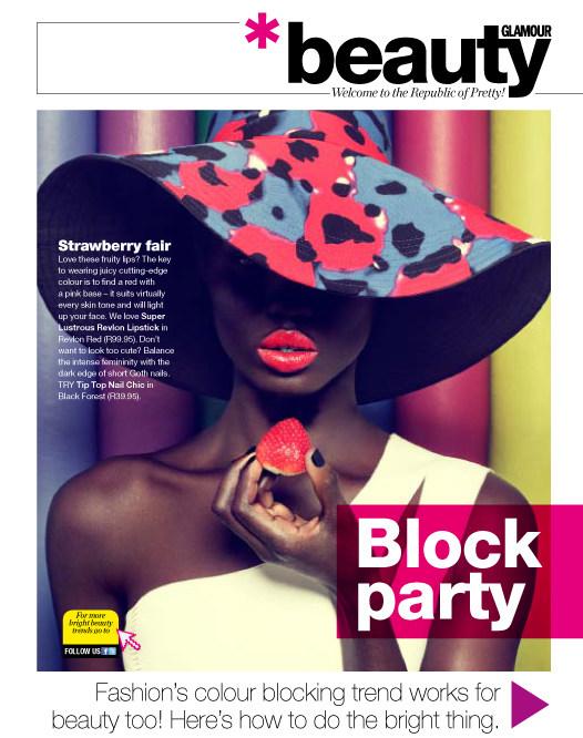 Filippo del Vita Lenses Color Blocked Beauty for Glamour