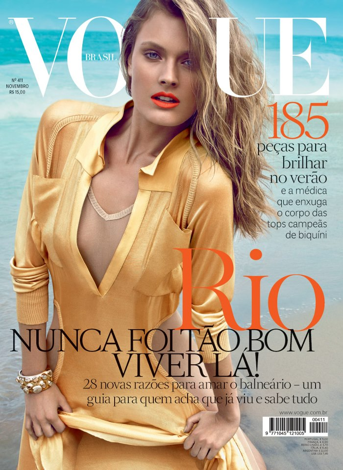 Constance Jablonski Hits the Beach for Vogue Brazil's November 2012 Cover