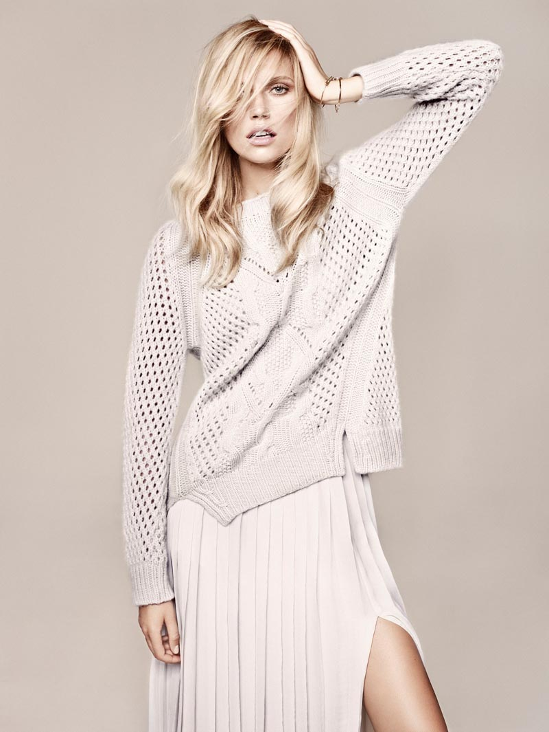 Cato Van Ee Models the Massimo Dutti NYC Studio Collection, Shot by Hunter & Gatti