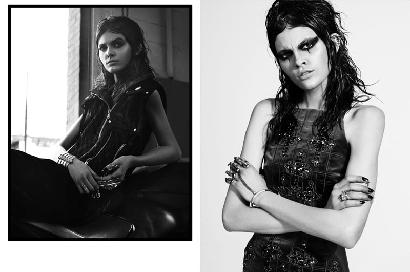 Melissa Stasiuk Has Grace with Edge for Benny Horne's Vogue Turkey Shoot