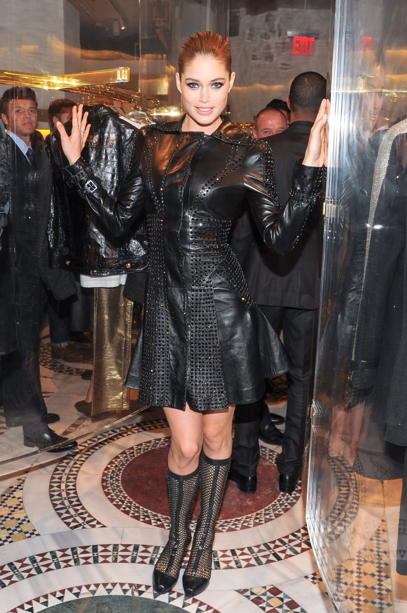Doutzen Kroes, Lady Gaga, Coco Rocha and Others Step Out for Versace's SoHo Store Opening