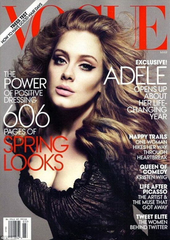 Vogue US March 2012 Cover | Adele by Mert & Marcus