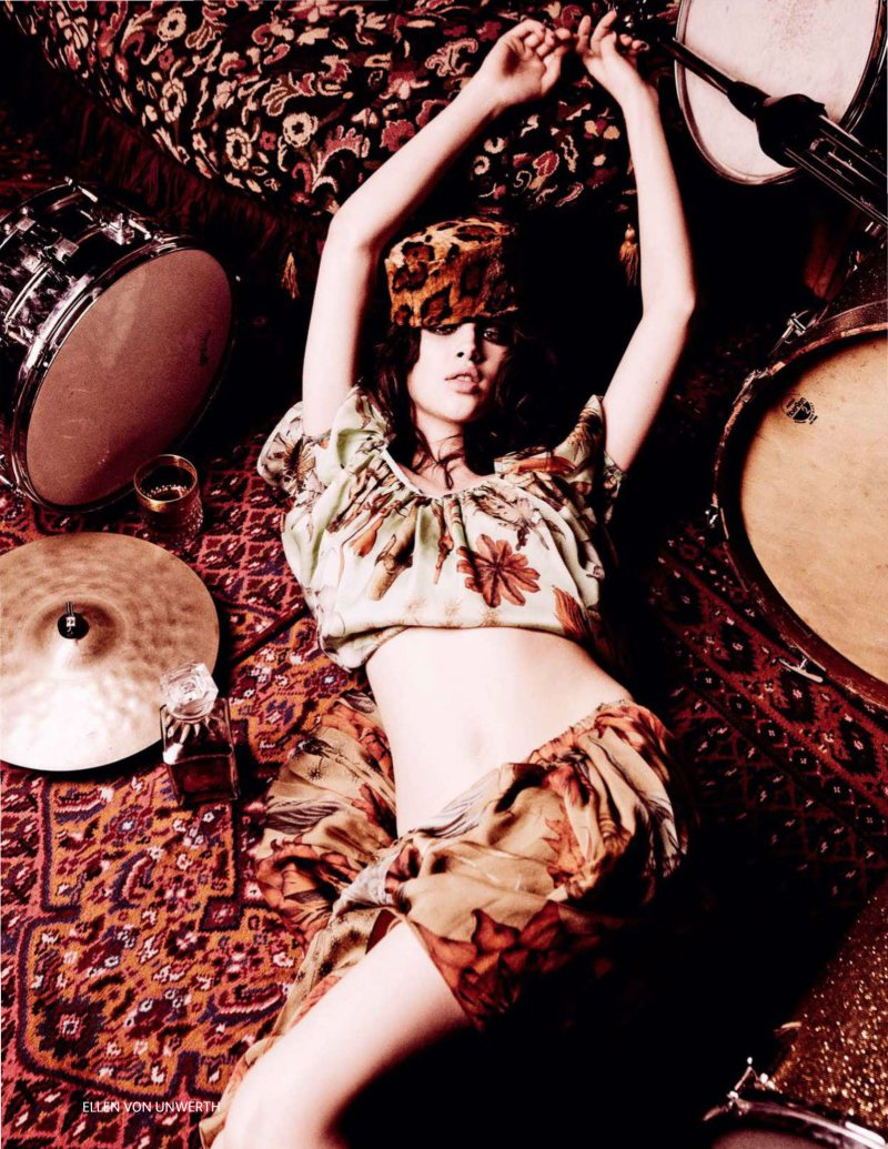 Anais Pouliot by Ellen von Unwerth for Vogue Russia March 2012