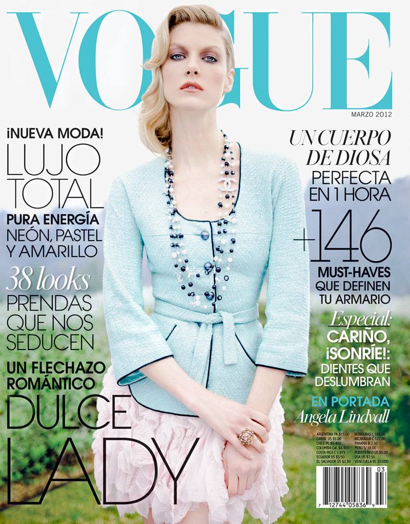 Vogue Latin America March 2012 Cover | Angela Lindvall by Jean-François Campos